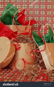 christmas gifts brown paper bags boxes stock photo 4899679