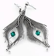 peacock feather earrings s class wire peacock feather earrings sept 21 advanced wire