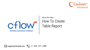 cflow how to create a table report youtube