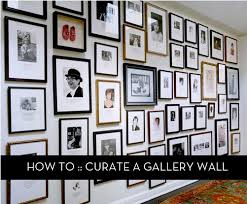 how to curate a gallery wall curbly