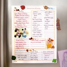 mickey minnie s thanksgiving planner thanksgiving planners and
