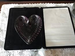heart shaped items lot of 6 heart shaped items plus 1 doily