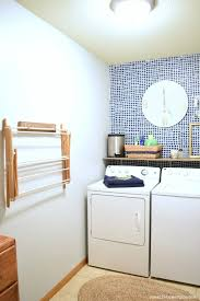 navy and grey laundry room reveal