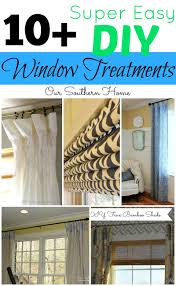 diy window treatments our southern home diy window treatments on