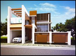 tidy design exterior design of apartment with warm lamp on the