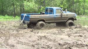 truck ford blue old blue ford mudding at waternam mud bog youtube