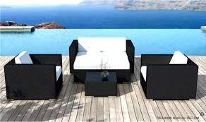 chaise en r sine tress e salon de jardin noir r sine tress e 6 avec d angle en amorgos et