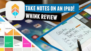 how to take notes on an ipad reviewing whink youtube