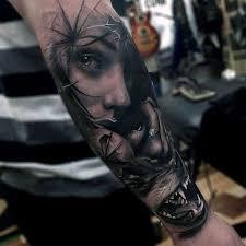 wolf badass mens forearm sleeve tattoos