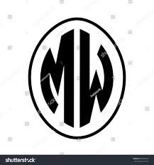 volkswagen logo vector black monogram curved oval shape initial stock vector 672403270