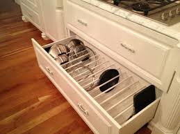 kitchen storage ideas for pots and pans pot lid organizers kitchen organizing ideas