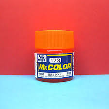 mr hobby c173 mr color paint semi gloss fluorescent orange ebay