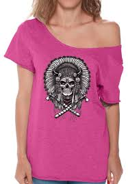 skull shoulder shirts tshirts for indian headdress s
