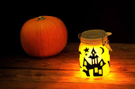 Halloween Head In A Jar Sun Jar Solar Powered Garden Light In A Mason Jar