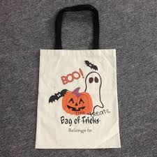 monogrammable items free shipping canvas treat or trick drawstring sack