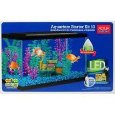 10 gallon aquarium starter kit fish tank led light aqua culture