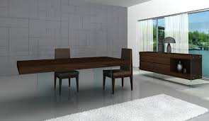 floating table modern j m float made in italy 5pc floating dining table 4 chairs