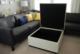 Square Leather Ottoman With Storage Square Tufted Storage Ottoman With Trent Design