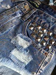 pattern jeans tumblr lienzy american appeal summer vintage punk women short jeans silver