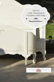 unifying mismatched furniture with paint vintage charm restored