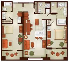 Bay Lake Tower One Bedroom Villa Floor Plan Grand Californian