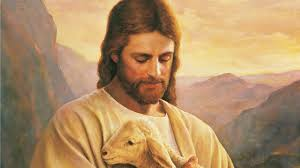 painting of christ carrying lamb