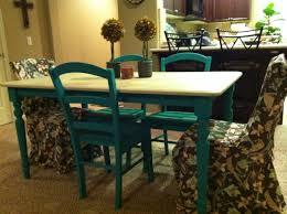 Painted Dining Table by Painted Kitchen Tables Kitchen Table Redone With Unicorn Spit Top