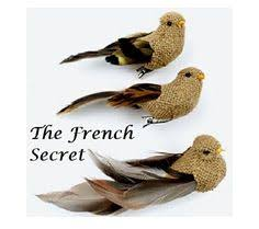 chic rustic 4 burlap bird ornament by thefrenchsecret