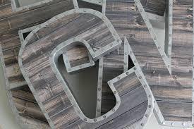 Barn Wood Letters Faux Reclaimed Wood Letters Gallery Wall Reclaimed Wood