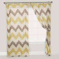 Gray And Yellow Chevron Shower Curtain by Yellow Toile Shower Curtain Cintinel Com