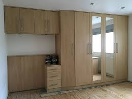 Oak Fitted Bedroom Furniture Oak Effect Bedroom Fitted Wardrobes Mirrored Doors Interior