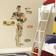 amazon roommates rmk star wars classic cpo peel and from the manufacturer star wars cpo wall decals