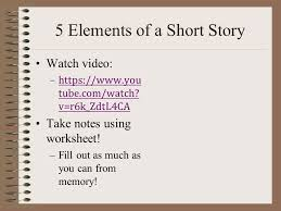 elements of a short story ppt video online download