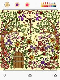 color a beautiful garden using colorfy online coloring book for