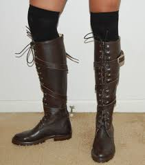 womens boots size 9 5 caboots helsing brown leather lace up knee high boots s