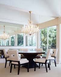Dining Room Chandeliers Transitional Dining Table Room Beach Style With Dinnerware Formal Side Chairs