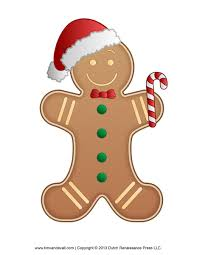 gingerbread man template clipart clipartix