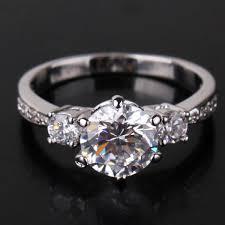 sapphire rings ebay images 1 64 stunning 7mm round diamond cut clear sapphire crystal 18k jpg
