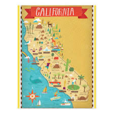 california map california map postcards zazzle