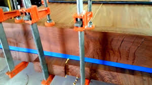 gluing up large wood slabs how to youtube