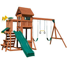 swing n slide playsets playful palace wood complete playset pb