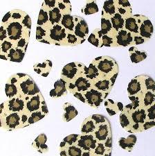 leopard print tissue paper gold leopard table confetti