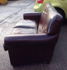 John Lewis Leather Sofas Stunning Brown Leather John Lewis Pall Mall Three Seater Sofa Made