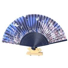 asian fan 1 pcs japan silk bamboo folding fan butterfly flower asian
