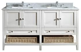 White Double Sink Bathroom Vanities by Bathroom Ideas White Double Sink 60 Inch Bathroom Vanity With Two