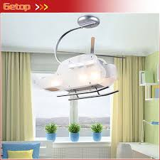 Helicopter Ceiling Light Zx Children Helicopter Shape Led Glass Ceiling L
