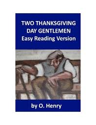 two thanksgiving day gentlemen easy reading o henry story quiz