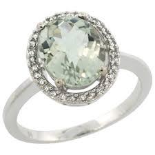 green amethyst engagement ring green amethyst