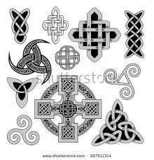 set ancient pagan scandinavian sacred symbols stock vector
