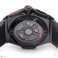all black ferrari hublot big bang 45 mm ferrari all black ceramic men s watch in